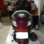Yamaha Cygnus Alpha rear at the 2014 Nepal Auto Show.
