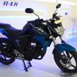 Yamaha FZ-S FI V2.0 front three quarter at the 2014 NADA Auto Show Nepal