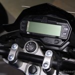 Yamaha FZ-S FI V2.0 instrument console at the 2014 NADA Auto Show Nepal