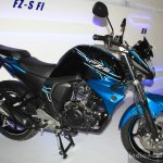 Yamaha FZ-S FI side V2.0 at the 2014 NADA Auto Show Nepal