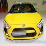 Yellow Daihatsu Copen front at the Indonesia International Motor Show 2014