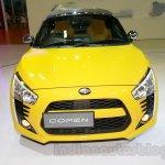 Yellow Daihatsu Copen front at the Indonesia International Motor Show 2014