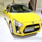 Yellow Daihatsu Copen front three quarters at the Indonesia International Motor Show 2014