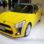 Yellow Daihatsu Copen front three quarters right at the Indonesia International Motor Show 2014