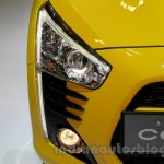 Yellow Daihatsu Copen headlamp at the Indonesia International Motor Show 2014