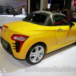 Yellow Daihatsu Copen rear three quarters left at the Indonesia International Motor Show 2014