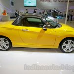 Yellow Daihatsu Copen side at the Indonesia International Motor Show 2014