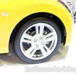Yellow Daihatsu Copen wheel at the Indonesia International Motor Show 2014