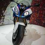 2015 BMW S 1000 RR blue front at the INTERMOT 2014