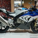 2015 BMW S 1000 RR blue side at the INTERMOT 2014