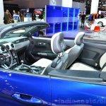 2015 Ford Mustang convertible interior at the 2014 Paris Motor Show