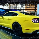 2015 Ford Mustang rear three quarters left at the 2014 Paris Motor Show