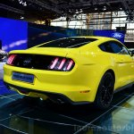 2015 Ford Mustang rear three quarters view at the 2014 Paris Motor Show