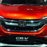 2015 Honda CR-V grille at the Paris Motor Show 2014