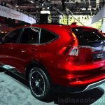 2015 Honda CR-V rear three quarters left at the Paris Motor Show 2014