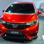 2015 Honda Jazz prototype for Europe front at 2014 Paris Motor Show