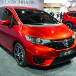 2015 Honda Jazz prototype for Europe front three quarter at 2014 Paris Motor Show