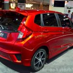 2015 Honda Jazz prototype for Europe rear right three quarter at 2014 Paris Motor Show