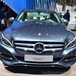 2015 Mercedes C Class front at the 2014 Paris Motor Show