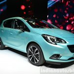 2015 Opel Corsa 5-door front three quarters at the Paris Motor Show 2014