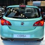2015 Opel Corsa 5-door rear at the Paris Motor Show 2014