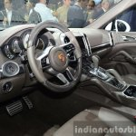 2015 Porsche Cayenne S E-Hybrid interior at the Paris Motor Show 2014