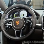 2015 Porsche Cayenne S E-Hybrid steering at the Paris Motor Show 2014
