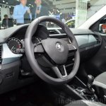 2015 Skoda Fabia Combi steering wheel at the 2014 Paris Motor Show