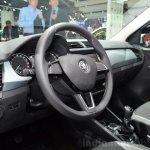2015 Skoda Fabia Combi steering wheel at the 2014 Paris Motor Show