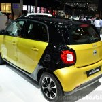 2015 Smart ForFour dual-tone rear three quarter at 2014 Paris Motor Show
