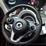 2015 Smart ForFour steering wheel at 2014 Paris Motor Show