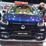2015 Smart ForTwo blue front at 2014 Paris Motor Show