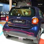 2015 Smart ForTwo blue rear three quarter at 2014 Paris Motor Show