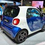 2015 Smart ForTwo dual-tone rear three quarter at 2014 Paris Motor Show