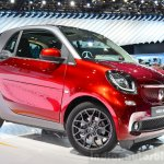 2015 Smart ForTwo front three quarter at 2014 Paris Motor Show