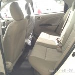 2015 Toyota Etios facelift rear seats