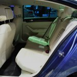 2015 VW Passat rear knee room at the 2014 Paris Motor Show
