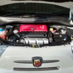 Abarth 500 engine bay spied India