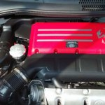 Abarth 500 engine spied India
