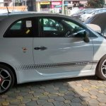 Abarth 500 side spied India