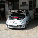Abarth 500 spied India