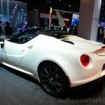 Alfa Romeo 4C Spider Preview Version rear three quarters at the 2014 Paris Motor Show