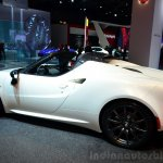 Alfa Romeo 4C Spider Preview Version side view at the 2014 Paris Motor Show