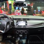 Alfa Romeo Giulietta Quadrifoglio Verde dashboard at the 2014 Paris Motor Show