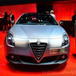 Alfa Romeo Giulietta Quadrifoglio Verde front at the 2014 Paris Motor Show