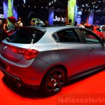Alfa Romeo Giulietta Quadrifoglio Verde rear three quarters at the 2014 Paris Motor Show