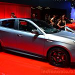 Alfa Romeo Giulietta Quadrifoglio Verde side at the 2014 Paris Motor Show