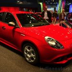 Alfa Romeo Giulietta Sprint front three quarters at the 2014 Paris Motor Show