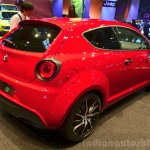 Alfa Romeo MiTo Quadrifoglio Verde rear three quarters at the 2014 Paris Motor Show