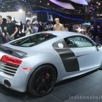 Audi R8 Competition rear three quarters at the 2014 Los Angeles Auto Show